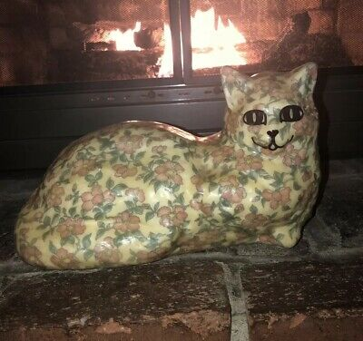 Vintage White's Whatchamacallit Papier-Mâché Cat! Hand Made and Numbered.