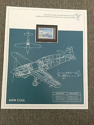 Greatest Aircraft Of The World Stamp Sheet Mew Gull  Airplane Aviation