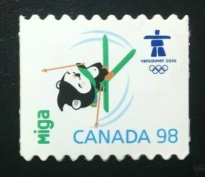 Canada #2311i Die Cut MNH, Olympic Emblems and Mascots - Miga Stamp 2009
