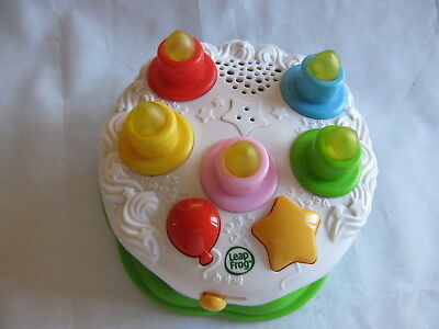 2009 Leapfrog Counting Candles Interactive Learning Musical Toy Birthday Cake