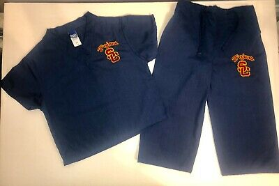 Toddler Size USC TROJANS SCRUBS Doctor Nurse Medical 2 Pc Exc Condition XS 3T-4T
