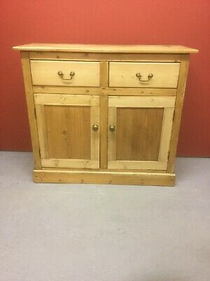 Antique Pine Sideboard / Cupboard With Drawers Sn-254a