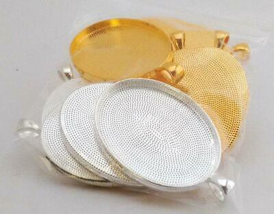 10 x Oval Blank Pendant Trays Fit 30x40mm Cabochon, FREE POST (AU stock)