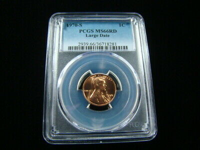 1970-S Large Date Lincoln Cent PCGS Graded MS66 RD Very Nice!!