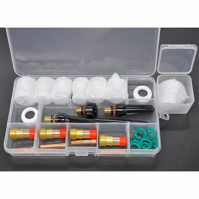 Pro TIG Welding Torch Stubby Gas Lens 12# Pyrex Glass Cup Kit For WP-17/18/26 UK