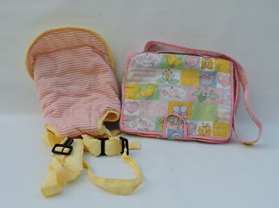 Zaph Creations Baby Born Dolls Change Bag with Extras and Carrier Yellow/Pink
