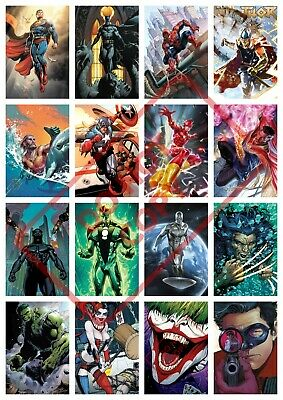 MARVEL Characters SUPERHERO AVENGERS HORROR DC COMICS A4 A3 POSTER BUY1GET2FREE