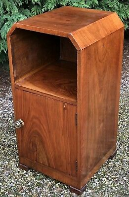 Fine Art Deco Walnut Single Door Cabinet/Stand