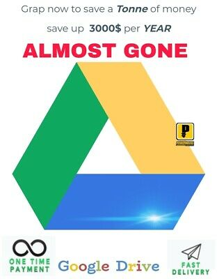 ➡️Lot of 5pc Unlimited google drive for existing forever acces unlimited 5pc⬅️