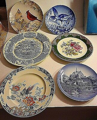 Display Plates Assorted Collectable Vintage  6
