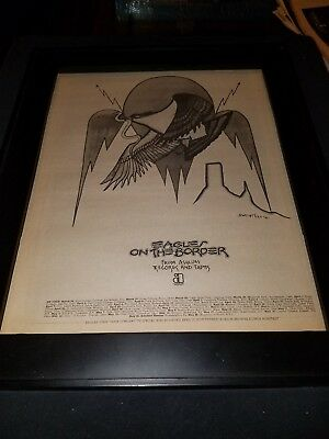 Eagles On The Border Rare Original Tour Promo Poster Ad Framed! #2