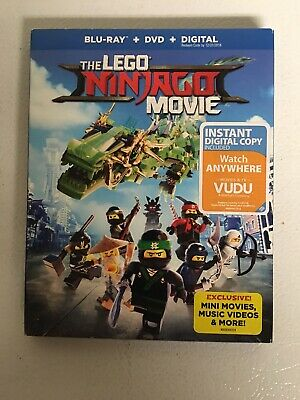 The LEGO NINJAGO Movie (Blu-ray Disc, 2017, 2-Disc Set, Slipcover)