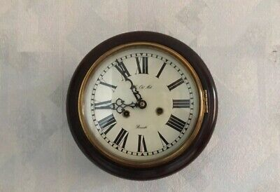 Small Wooden Wall Clock Recently Serviced
