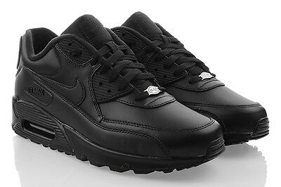 size 40 f0bbf 67b52 Nike Air Max 90 Cuir Baskets pour Hommes Exclusif Baskets Original 302519- 001