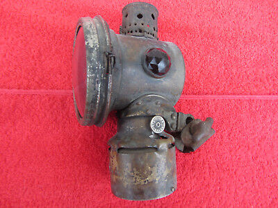 Ancienne Lampe Petrole Huile Velo Prevents Accidents  U.s.a.