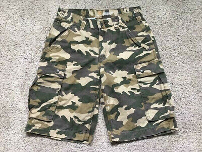 2ab7282bc1 New Carhartt Men's Relaxed Fit Rugged Khaki Camo Cargo Shorts Size 30 11