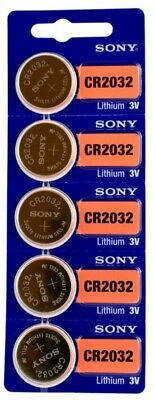 5 X SONY CR2032 Lithium battery V2032 DL2032