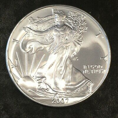 2007 Uncirculated American Silver Eagle US Mint Issue 1oz Pure Silver #H672