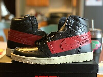 size 40 c6a92 9b2ba Nike Air Jordan 1 Retro High Og Defiant Couture 10.5 Black Red Bred Bq6682- 006