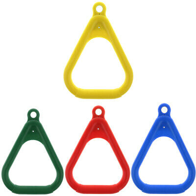 Kids Gym Playground Heavy-Duty Trapeze Swing Accessories Coated Swing Rings