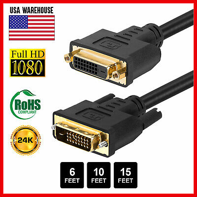 DVI-D Extension Cable DVI-D Male to DVI-D Female Cord M/F LCD HDTV Monitor Wire