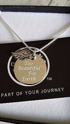 925 Silver Custom Engraved Baby Loss Miscarriage Memorial Necklace Mothers Gift