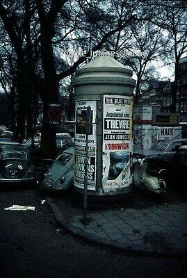 1970 City Scene VW's Posted Bills Amsterdam Agfachrome Slide