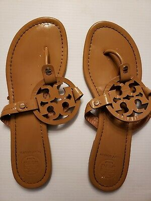 7d19d7896878 TORY BURCH MILLER Nude Leather Sandals Flats Sz 9 M -  109.00