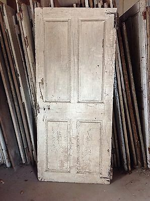 Antique Door New England 18th Century Interior 4 Raised Panel Door H L Hinges X