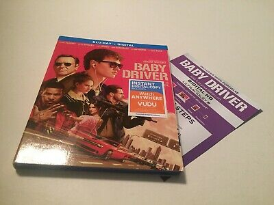 Baby Driver (Blu-ray Disc, 2017, Includes Slipcover) Scratch Free Disc