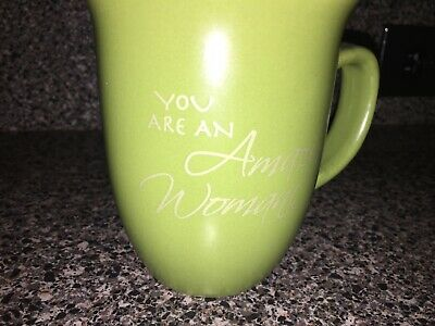 New You Are An Amazing Woman Ceramic Mug Green Proverbs 31:29 Abbey Press