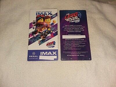 The Lego Movie 2 The Second Unit Collectible Regal IMAX Ticket # of 500 Free Shp