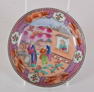 c1800 New Hall Porcelain Boy In The Window Dish Pattern Number 425 Chinoiserie