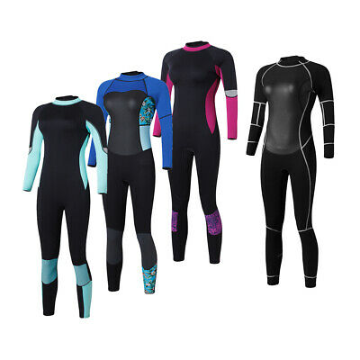Women Long Sleeve Rash Guard UPF 50+ Back Zipper Swim Surfing Full Wetsuit