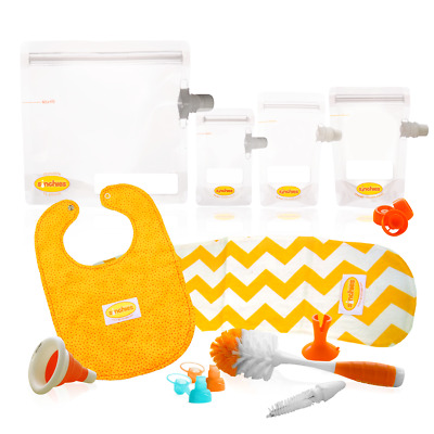 Sinchies New Baby KiT / Gift of Food Pouches Reusable Packaging + extras Bip etc