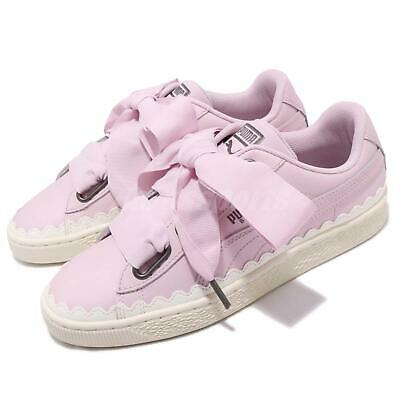 new arrival f33fc 5c8fa PUMA BASKET HEART Scallop Wns Winsome Orchid Bow Women Casual Shoes  366979-02