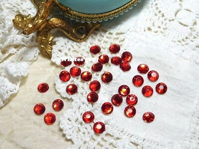 (215)**Costume Makers Sellout**Flat Back Rhinestones**Red**Round**New!**