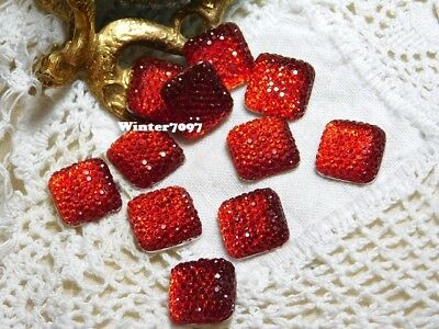 (223)**Costume Makers Sellout**Flat Back Rhinestones**Red**Square**New!**