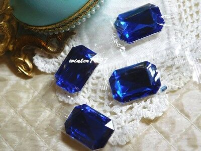 (391)*Costume Makers Sellout*Rhinestone Jewels*Oblong*Royal Blue*New!*