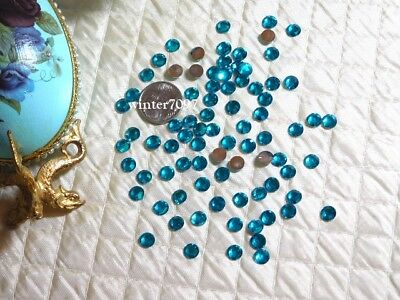 (407)*Costume Makers Sellout*Flat Back Rhinestones*Round*Blue*New!*