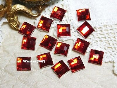 (211)**costume Makers Sellout**flat Back Rhinestones**red**squares**new!**