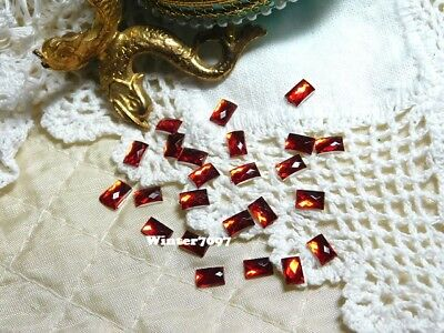 (238)**Costume Makers Sellout**Flat Back Rhinestones**Red**Oblong**New!**