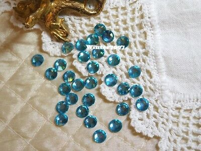 (371)*Costume Makers Sellout*Flat Back Rhinestones*Round*Blue*New!*