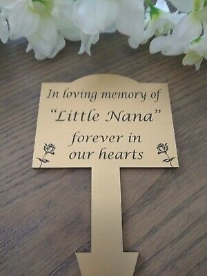 Engraved Memorial Plaque Stake - custom requests  Outdoor Grave memorial marker