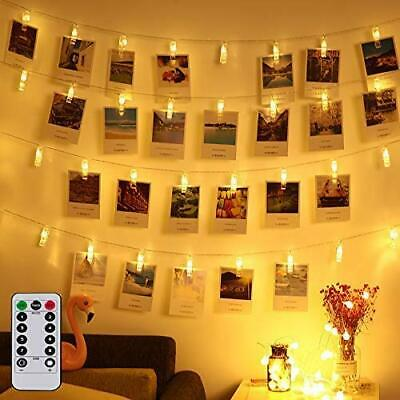 Led Photo Clip Remote String Lights Fairy Twinkle Wedding Party Home Decor Light