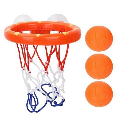Bath Toy One Basketball Hoop and Three Balls Kid Toddler Toys Gift Set