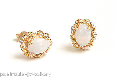 9ct Gold Opal Stud earrings Made in UK Gift Boxed studs