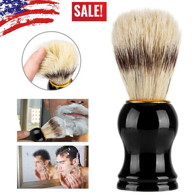 Men Shaving Bear Brush Badger Hair Shave Black Handle Razor Barber Cleaning Tool