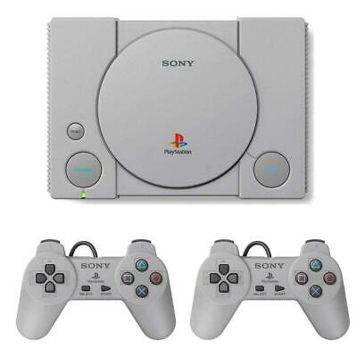 Sony Playstation Classic Console Grey With 2 Controllers & 20 Pre-Loaded Games