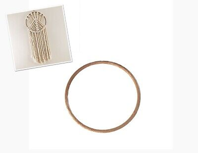 Proops 10x Extra Large 30cm Round Brown Plastic Macrame Ring Rings Hoops. S7822